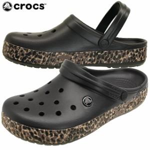 クロックス crocs crocband leopard clog 203171 クロックバンド レオパード クロッグ サンダル 001 70N