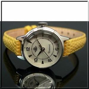 ROSEMONT ロゼモン レディース腕時計 ホワイト文字盤 イエローレザーベルト【送料無料】RS-001YE