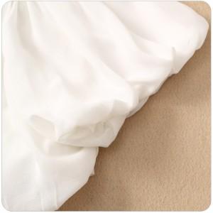 パーティードレスに似合うボレロショート丈半袖シフォンカーディガン襟元スパンコール冷房対策大きいサイズ有[F/2L/3L/4L]