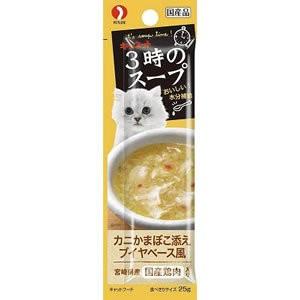 【ペットライン】キャネット 3時のスープ カニかまぼこ添えブイヤベース風 25gx4P