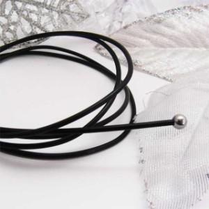 ボディピアス 3cm売り 眉ピアス・へそピアスにオススメ 透明ピアス/妊婦さんにも安心の柔らか素材/PTFEテフロンコード/16G・14G