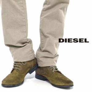 DIESEL ディーゼル コンビレザー レースアップブーツ Y00728 PR0341 T2277/ベージュ×ブロンズ