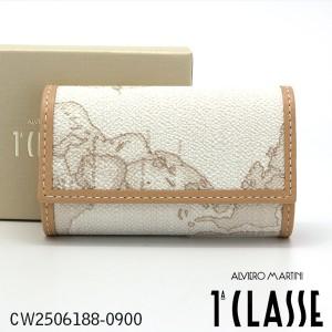 プリマクラッセ6連キーケース Prima Classe キーケース CW2506188-0900 ホワイト 世界地図柄