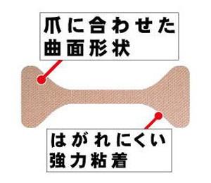 巻き爪テープ クイこまーぬ 60枚入 巻き爪サポーター 巻き爪ワイヤー 巻き爪矯正 メール便 送料無料