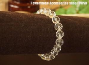 パワーストーン ブレスレット あらゆる幸運を呼ぶ・厄除け・開運   多面カット8mm水晶 パワーストーン ブレス 天然石