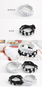 韓国スター・アクセサリー 東方神起のユンホst. W&Bミックス ブレスレット BRACELET 腕輪(2種1択)