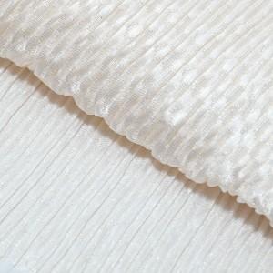 振袖用帯揚げ「丹後ちりめんふくら織り金通し 白」