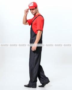 男性 マリオ コスプレ 仮装 ハロウィン コスプレ コスチューム メンズ サスペンダーズボン コスプレ   7813