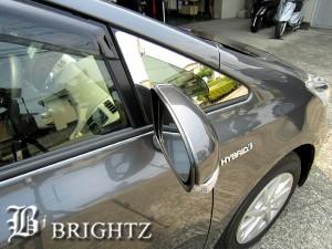 メビウス ZVW41N 超鏡面ステンレスメッキウィンドウピラーパネル 2PC Aタイプ【CBM4-A6-CC】 三角窓 フロント ガラス サイド ドア