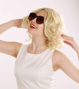 高品質 高級 コスプレ衣装 マリリン モンロー 風  wig ウイッグ オーダーメイド Fashion Star Marilyn Monroe Cosplay Wig Adult Short