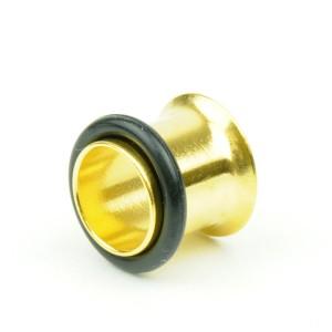 【メール便 送料無料】ハーフフレア(シングルフレア) ゴールド 00GA(10mm) アイレットボディーピアス/ボディピアス】 ┃
