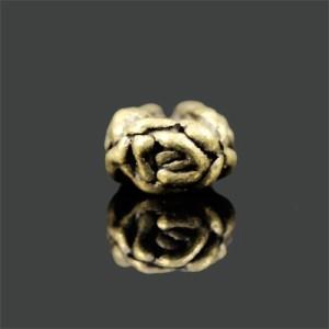 花 メタルパーツ 古銅美 (20個)〔G2-38〕