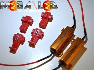 アルト HA25系 対応★砲弾24連LEDフロントウインカーLED&抵抗器セット★オレンジ発光【メガLED】