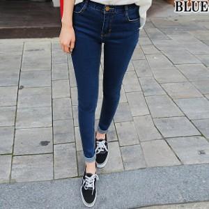 [即納]美脚 デニム 2カラー ブルー ブラック レディース スキニー パンツ 6サイズ スキニージーンズ スキニーデニム 脚長 ストレッチ