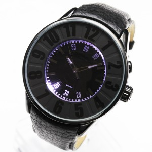 【ROMAGO/ロマゴ】西内まりあ愛用モデル ビッグフェイス腕時計 メンズ レディース ミラーウォッチ ヌメレーションシリーズ