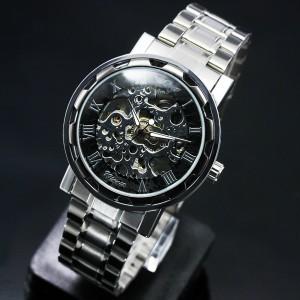 自動巻き腕時計・メンズ【送料無料】フルスケルトン仕様・自動巻き腕時計【BOX・保証書付】