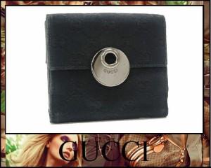 ★グッチ エクリプス GG Wホック財布 ブラック 120935★
