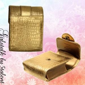 【贈り物にも最適】メタルレザー!ギラギラ系でワイルドな雰囲気☆シガレットケース