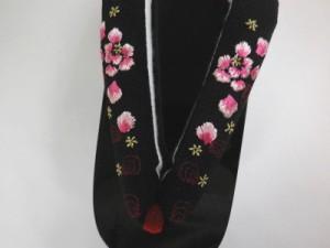 振袖成人式&卒業式袴・着物に 舞妓気分のこっぽり(ぽっくり)下駄牡丹彫黒鼻緒