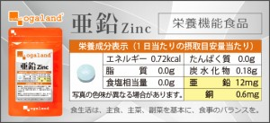亜鉛(約1ヶ月分)3150円以上送料無料 ミネラル 美容 健康 サプリメント 激安 ネイルケア 美容ケア