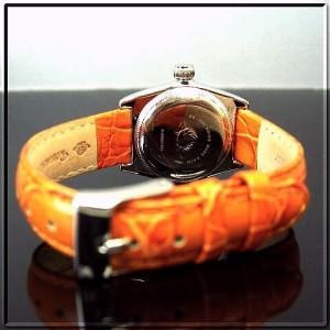 Rosemont-swiss ロゼモン レディース 腕時計 ホワイト文字盤 オレンジレザーベルト【送料無料】 RS-002OR