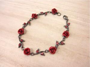 ロマンティックローズブレスレット・メール便(ゆうパケット)なら送料無料・薔薇・バラ・大人可愛い・カワイイ・NB-546