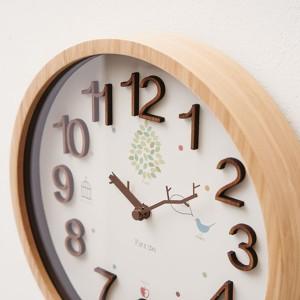 送料無料 電波時計 おしゃれな掛け時計  壁掛け時計 トラド INTERFORM インターフォルム CL-9704 / 木製 ポップ