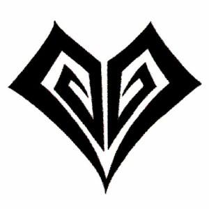 タトゥーシール 2枚セット★ミニハート ボディーシール
