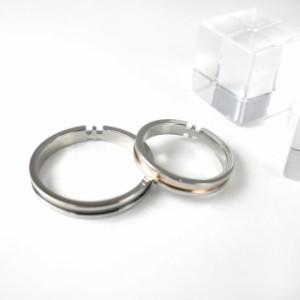 ペアリング 刻印無料 プレッジワンスラブクロスステンレスペアリング【指輪/ステンレスリング】