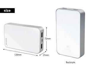 大容量 バッテリー iPhone モバイルバッテリー 13000mAh スマホ  防災グッズ 充電器 ポータブル