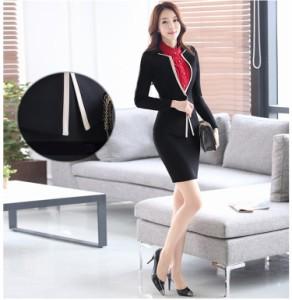 レディーススーツセット パンツスーツ フォーマル スーツレディース♪エレガントなデザインで、細身シルエットで、【送料無料】WA504