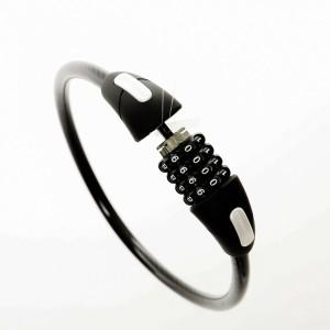 自転車ロック (ダイヤル式ロック)バイク ロック 鍵 ワイヤー 暗証番号 防犯 黒 頑丈で持ち運びも便利 盗難防止