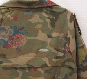 [大きいサイズ レディースL~5L]海外セレカジ 迷彩 カモフラ×花柄 ジャケット ブルゾントップスアウター【予約】kftv-9628TS