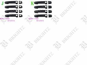 BRIGHTZ カローラ 120 121 122 124 リアルカーボンドアハンドルカバー ノブ   CRO-LA-BNK