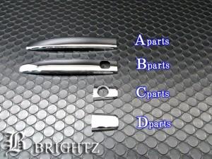 BRIGHTZ タコマ 05y~ クロームメッキアウタードアハンドルカバー ノブ ハーフカバータイプ 8PC JDO−96−AO