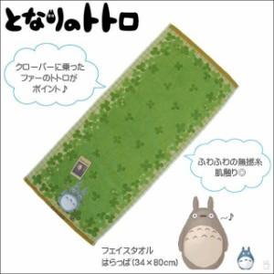 フェイスタオル  となりのトトロ 「はらっぱ 」 キャラクタータオル/キッズタオル