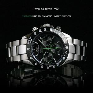 TECHNOS テクノス 天然ダイヤ特別仕様 選べる 3カラー クロノグラフ 限定モデル メンズ 腕時計 T4286