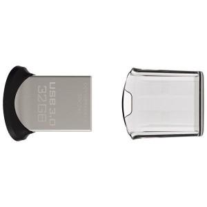 激安 、DM便送料無料  SanDisk USBメモリー 32GB Ultra Fit USB3.0対応 高速130MB/s 超小型 海外パッケージ品