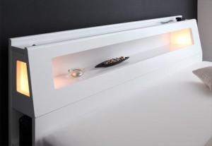 【送料無料】照明・コンセント付きチェストベッド ダブル フレームのみ 棚付き 宮付き 照明付き 収納 チェスト ★cc273c