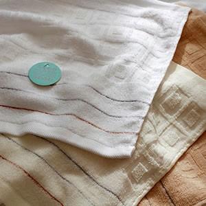 無撚糸ズブ染めジャガードタオル 【アドニス】 バスタオル60×120cm 綿100%