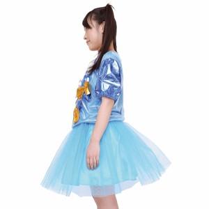 【心のプラカード風】プラカードドレス ブルー AKB風 アイドル衣装 UNISEX