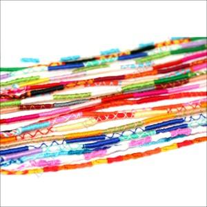 メール便 送料無料 ミサンガ 細い糸の編み込みハンドメイド ブレスレット アンクレット 10本セット【自然と切れると願いが叶うかな】=┃