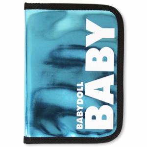 アウトレットSALE50%OFF 母子手帳や通帳入れに♪メタリックマルチポーチ/Mサイズ-雑貨レディースベビードール-6054