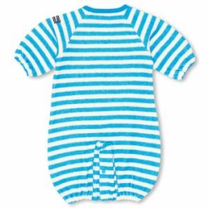 NEW♪ディズニー キャラ新生児用2wayカバーオール/ドレスオール(ボーダー)-ベビーサイズ ベビードール 子供服 /DISNEY-6853B