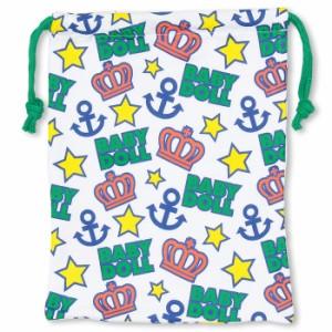 NEW♪マリン総柄キンチャク(Mサイズ)-巾着袋 キッズ ベビー レディース ベビードール 子供服-7389