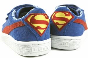 50%OFF 子供 プーマ スウェード スーパーマン V キッズ ストロングブルー/レッド/バターカップ 357654-01 / pre_