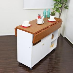 【代引き不可】 NEW両バタワゴン ホワイト キッチン収納 キッチンカウンター  クロシオ 92913 92915  KU008