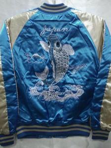 スカジャン 鯉刺繍 日本製本格刺繍のスカジャン