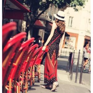マキシワンピースアジアン風デザインが超かわいい♪ウエストベルト/リゾート/トップス/スカート/レディース