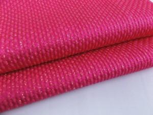 振袖成人式&着物に 金通しふくれ織正絹帯揚げ帯上げ濃ピンク